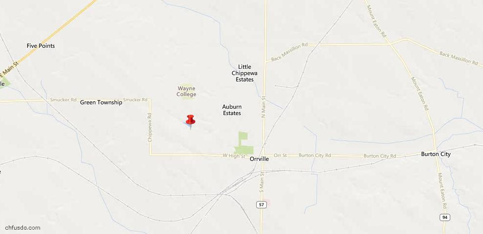 USDA Loan Eligiblity Maps From - Orrville, OH