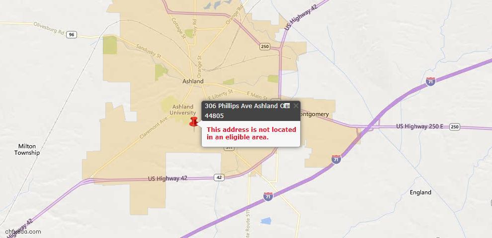USDA Loan Eligiblity Maps From - Ashland, OH