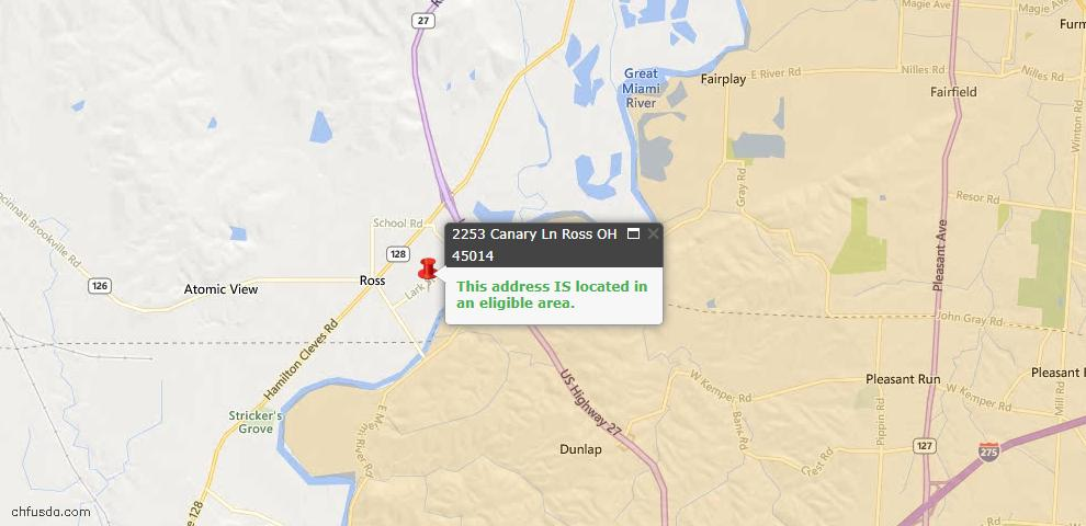 USDA Loan Eligiblity Maps From - Ross Twp, OH