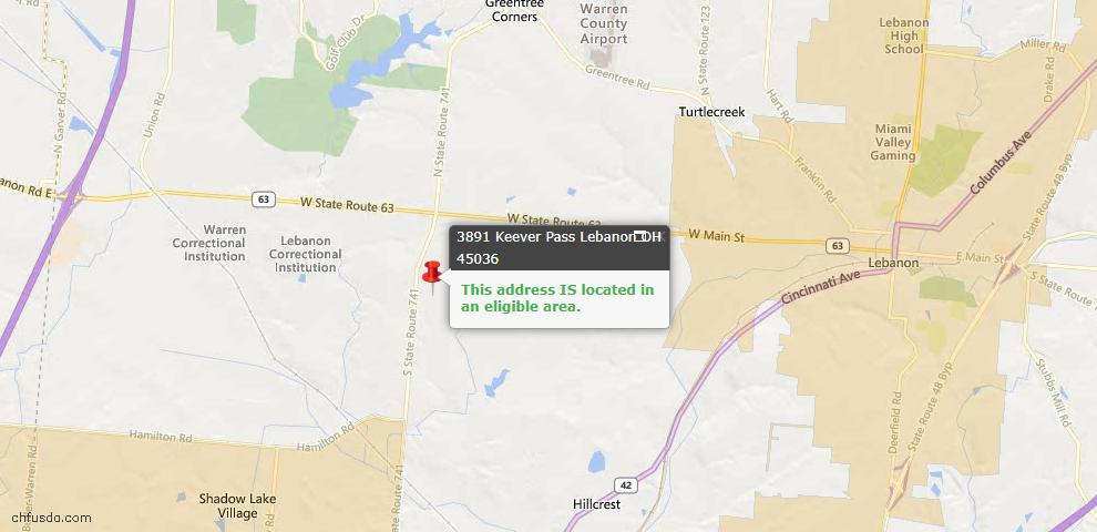 USDA Loan Eligiblity Maps From - Turtle Creek Twp, OH