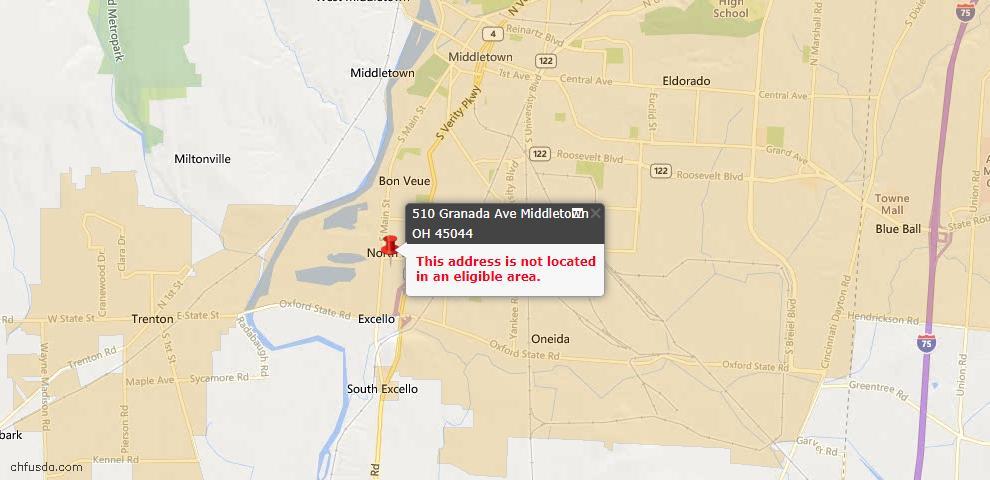 USDA Loan Eligiblity Maps From - Lemon Twp, OH