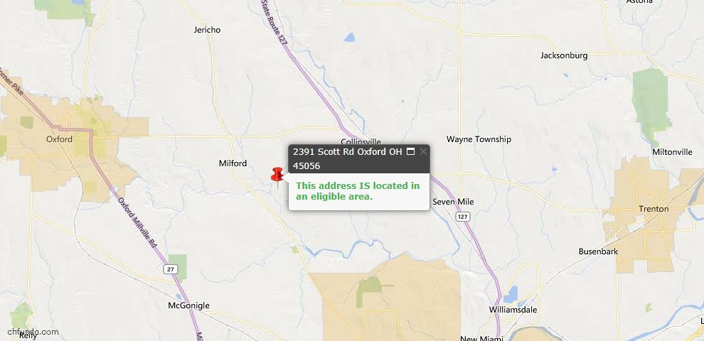 USDA Loan Eligiblity Maps From - Milford Twp, OH