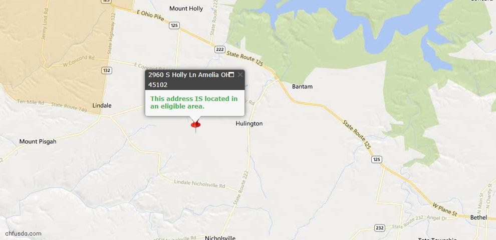 USDA Loan Eligiblity Maps From - Monroe Twp, OH