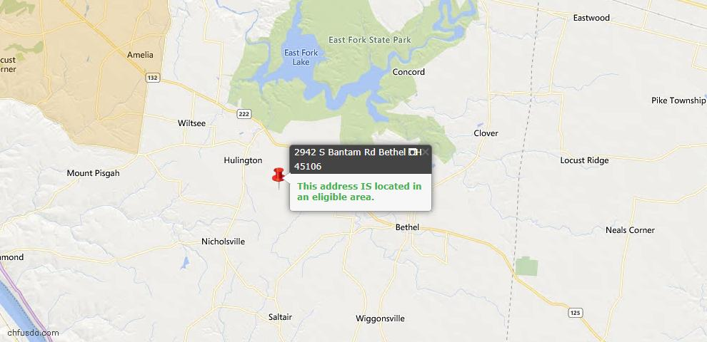 USDA Loan Eligiblity Maps From - Tate Twp, OH