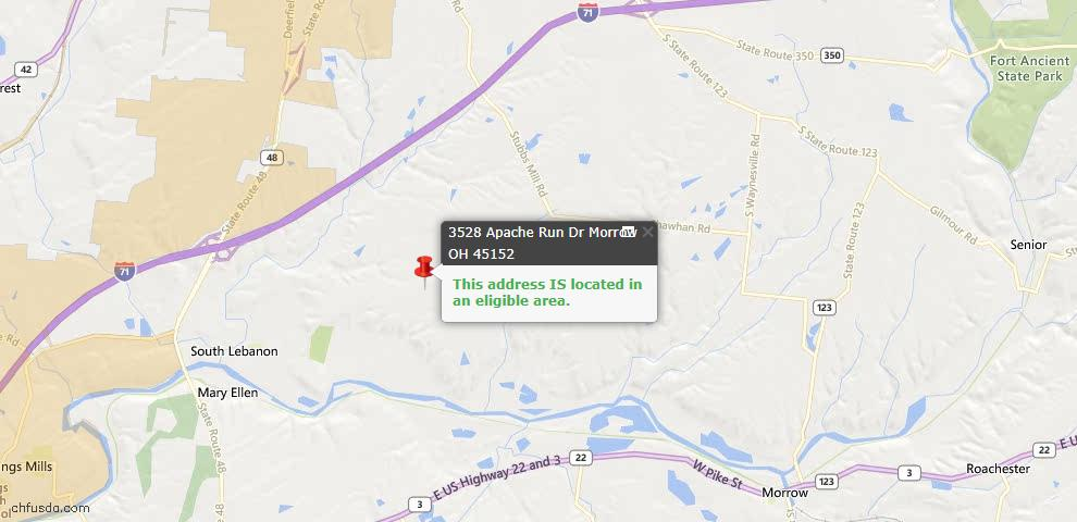 USDA Loan Eligiblity Maps From - Morrow, OH