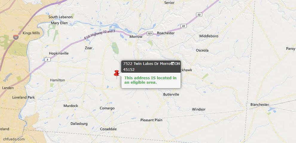 USDA Loan Eligiblity Maps From - Salem Twp, OH