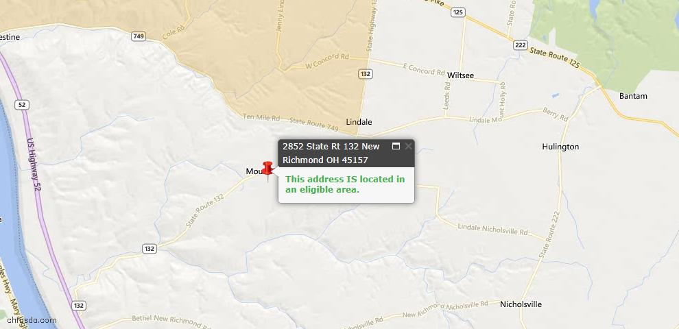 USDA Loan Eligiblity Maps From - Ohio Twp, OH