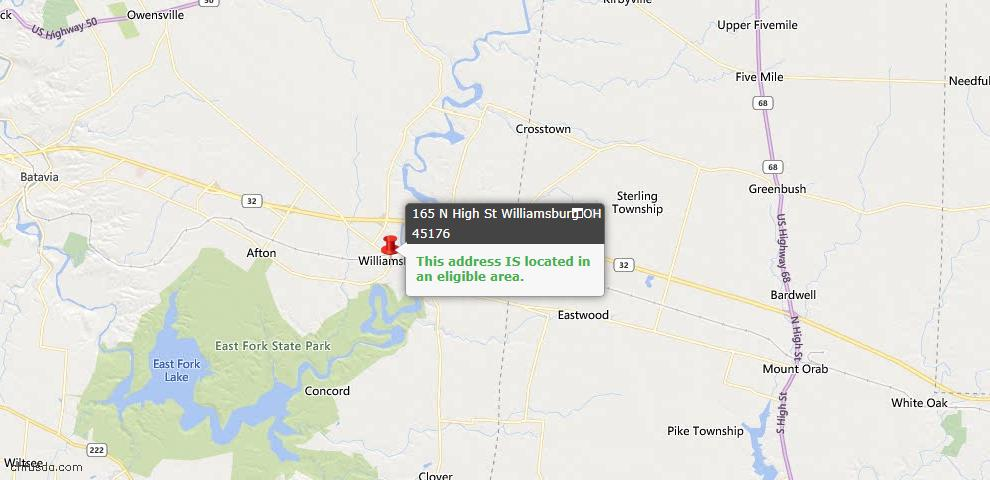 USDA Loan Eligiblity Maps From - Williamsburg, OH