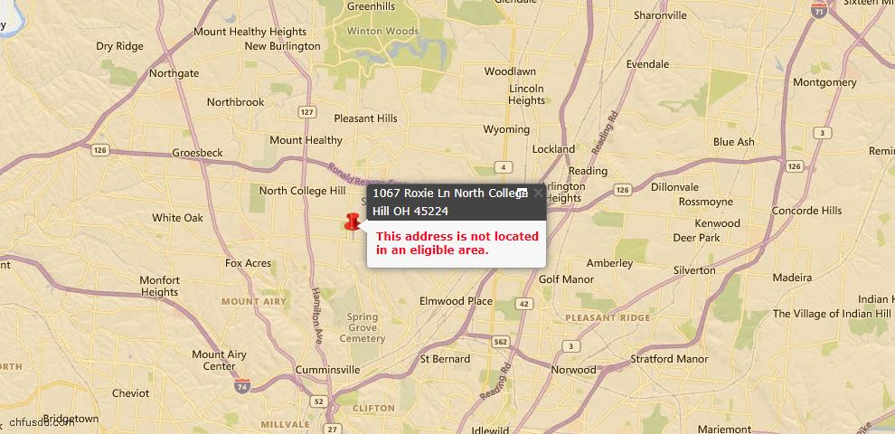 USDA Loan Eligiblity Maps From - College Corner, OH