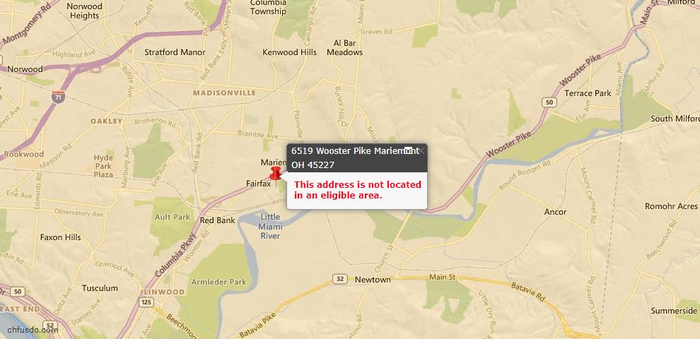 USDA Loan Eligiblity Maps From - Mariemont, OH