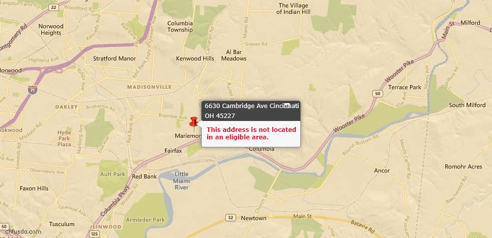 USDA Loan Eligiblity Maps From - Columbia Twp, OH