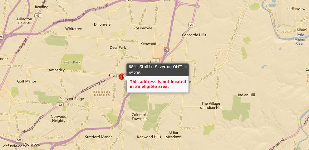 USDA Loan Eligiblity Maps From - Silverton, OH