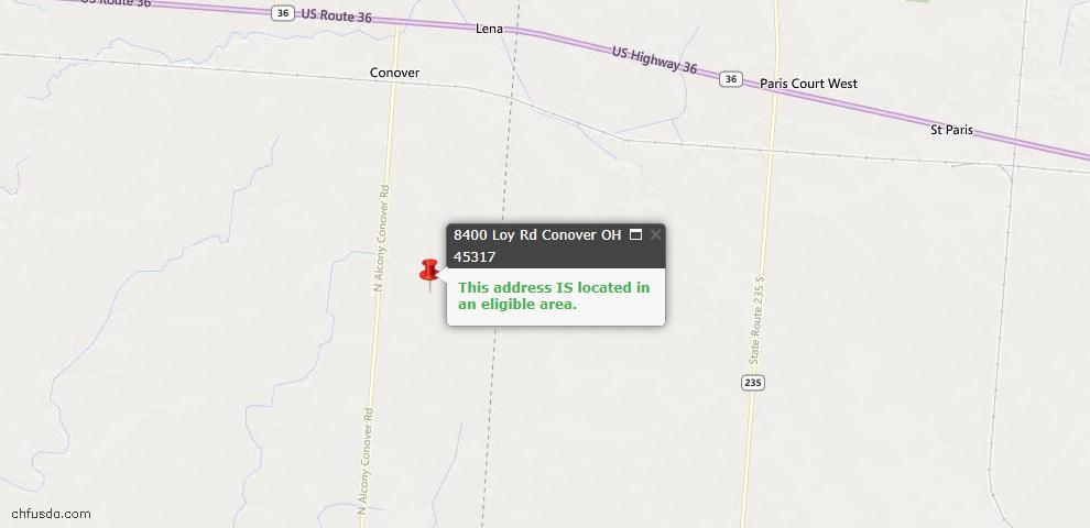 USDA Loan Eligiblity Maps From - Conover, OH