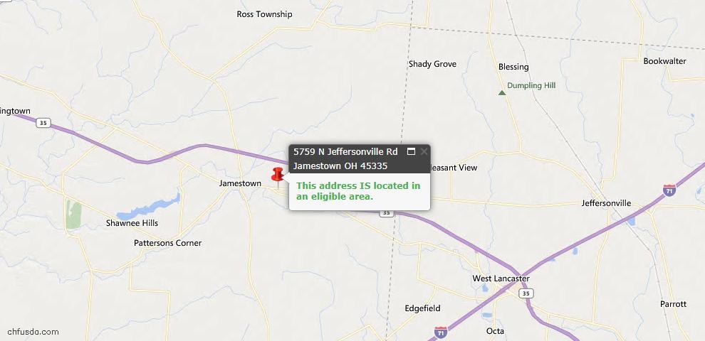 USDA Loan Eligiblity Maps From - Silvercreek, OH