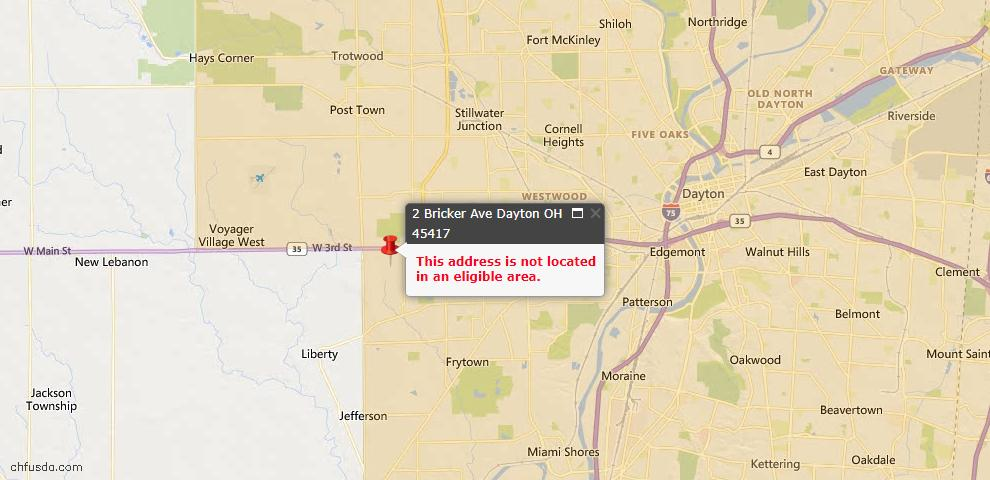 USDA Loan Eligiblity Maps From - Jefferson Township, OH