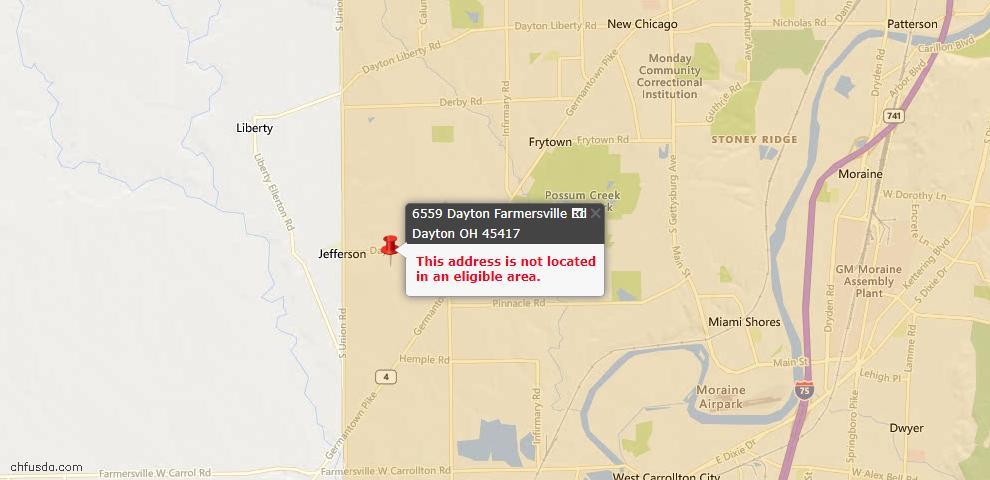USDA Loan Eligiblity Maps From - Jefferson Twp, OH