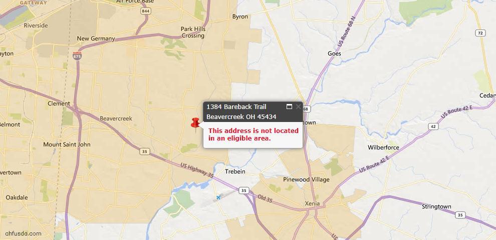 USDA Loan Eligiblity Maps From - Beavercreek Twp, OH