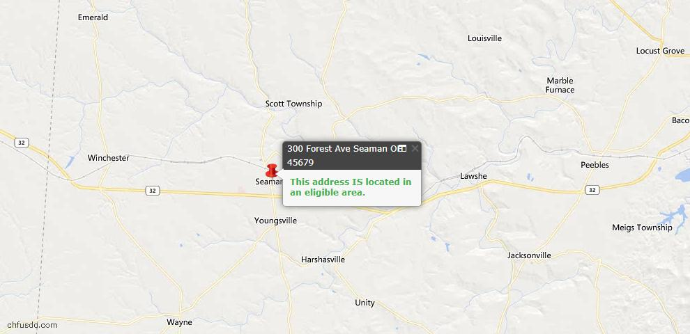 USDA Loan Eligiblity Maps From - Seaman, OH