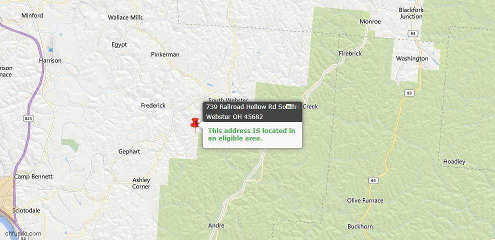 USDA Loan Eligiblity Maps From - 45682, OH