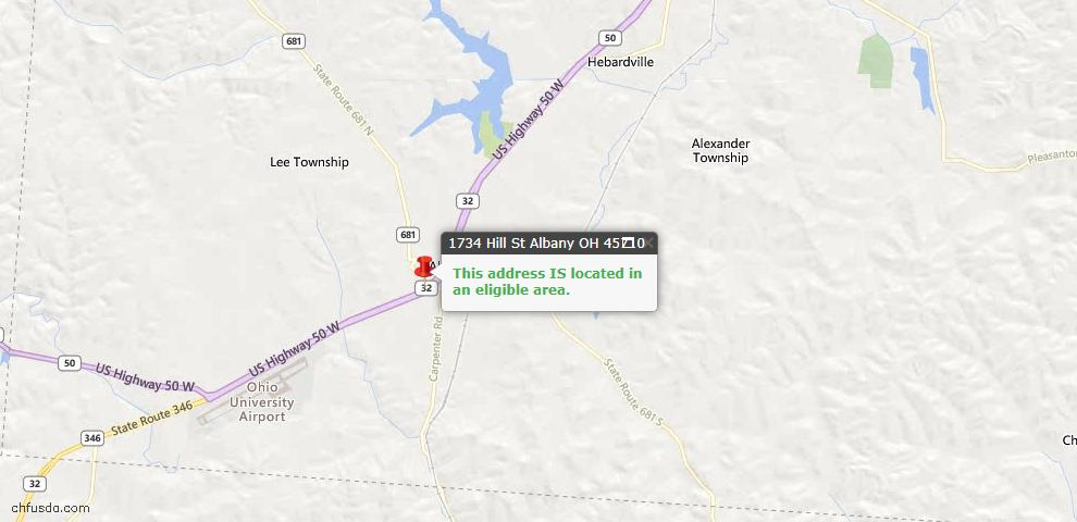 USDA Loan Eligiblity Maps From - Athens County, OH