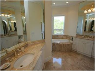 Master Bathroom with Tub & Double Vanity