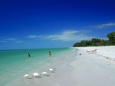 Longboat Key white sand beach