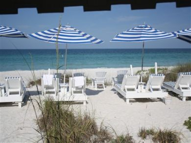 View of the Gulf with Beach Chairs