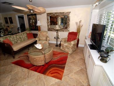 Flat Screen TV in Living Area