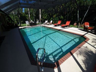 Walk to Beach Home with Pool in Sanibel, Florida