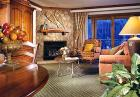 Sample living room with mountain views