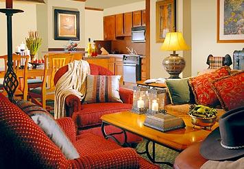 Sample open plan living space
