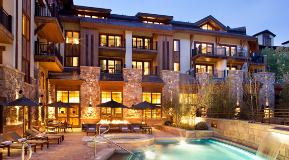 Outside Pool and Hot Tub in Vail Vacation Rental Condo