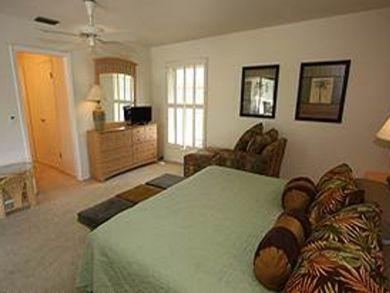 Master bedroom has TV