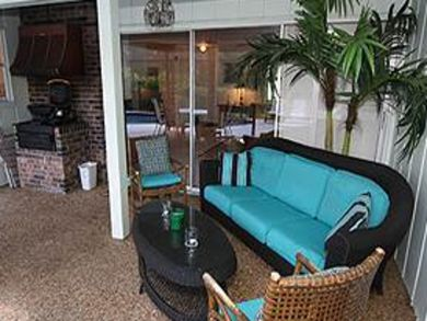 Furnished deck with BBQ grill
