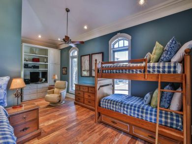 One Set of Bunk Beds with Trundle in Fourth Bedroom
