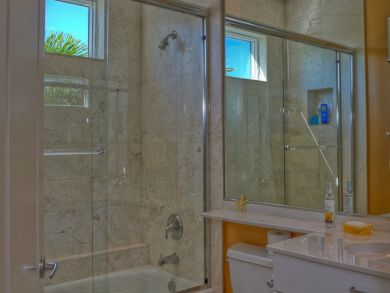 Bathroom with Shower in Tub