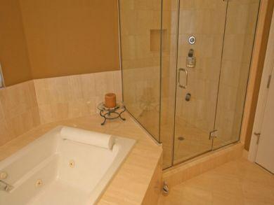 Bathroom with tub & walk-in shower