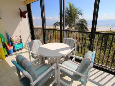 Screened Balcony with Table Set