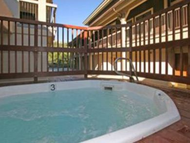 Community outdoor hot tub