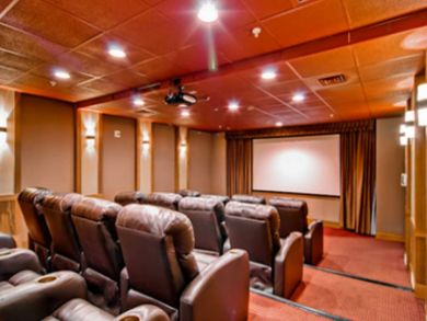 Reserve the private 25-seat movie theater