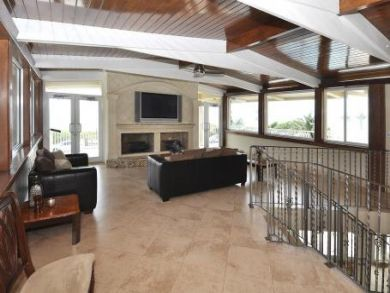 Family room with flat screen TV