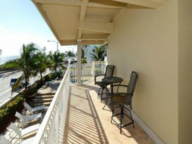 Balcony with outdoor chairs