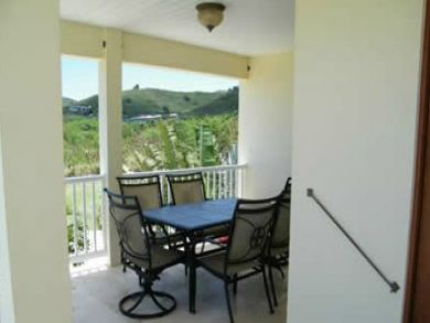Balcony with tabele set