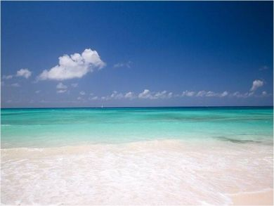 Sandy beach and ocean view