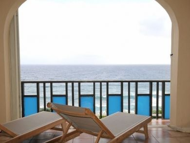 Balcony with sun loungers