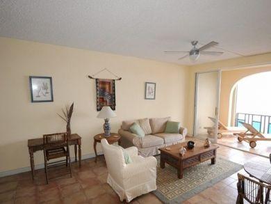 Living room open to balcony