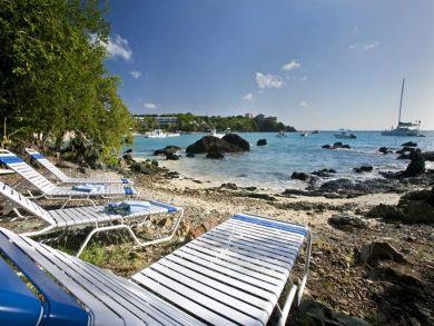 Sun loungers at beach