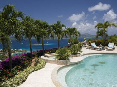 Ocean view rental villa with pool in St. John, US Virgin Islands