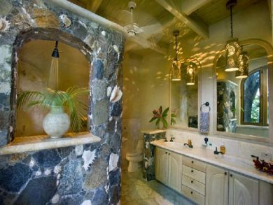Gorgeous bathroom with shower