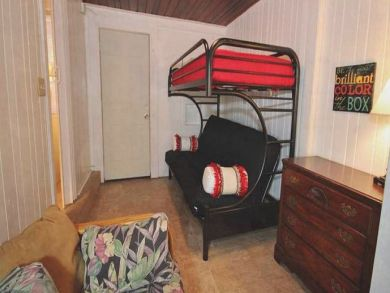 Bedroom 3 with one set of bunk beds
